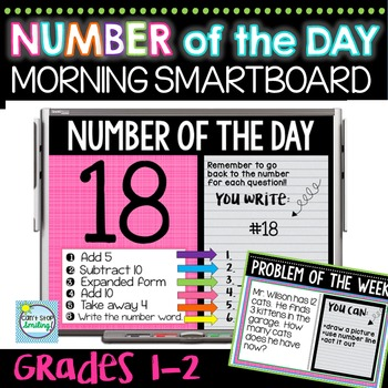 Number of the Day MORNING Smartboard Slides
