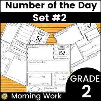 Morning Work Grade 2 Number Sense - Number of Day!  Set #2
