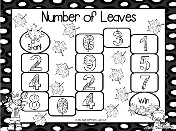 Number of Leaves:  NO PREP Number Identification Game