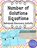 Number of Solutions Equations Notebook Discovery Activity