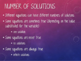 Number of Solutions PowerPoint Presentation