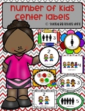 Number of Students per Center Labels | Complete MEGA Pack | Class Organization