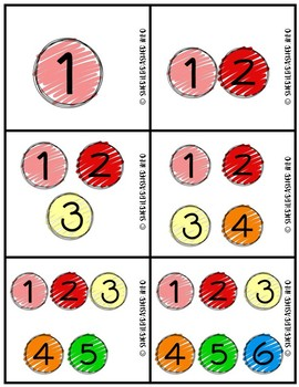 Number of Students per Center Labels | Number Dots Pack | Class Organization