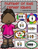 "Number of Students per Center Labels | ""Real Kid"" Pack 