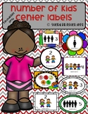 Number of Students per Center Labels | Silhouette Kids Pack | Class Organization