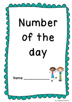Number of The Day Booklet for Lower Primary! Great for Numeracy Stations!