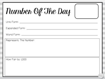 Number of The Day: Representing Place Value