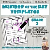 Number of The Day Templates Binder Grade 2 BIG IDEAS; Place Value OA NBT