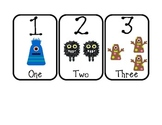 Number of Week Flash Cards--Monster Themed