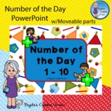Number of the Day 1-10 PowerPoint w/Moveable Parts- Distan