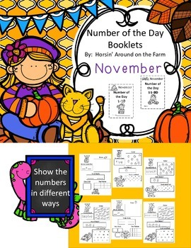 Number of the Day 1-10 and 11-20 {November}