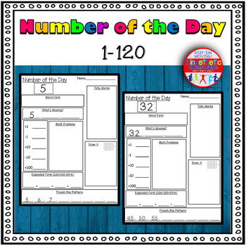 Number of the Day Worksheets 1-120