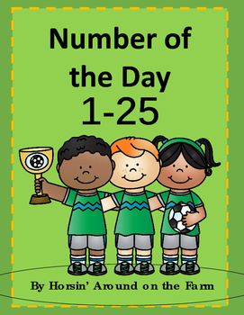 Number of the Day 1-25 (Soccer Theme)
