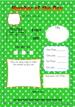 Number of the Day Worksheet Set