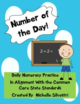Number of the Day!  A Common Core Math Activity