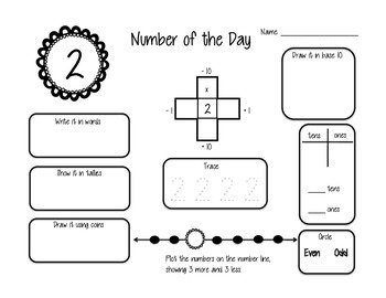 Number of the Day Math Pack (1-31)
