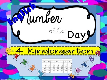 Number of the Day in English for Kindergarten