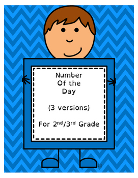 Number of the Day (3 Versions - 6 Pages)