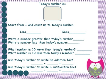Number of the Day 1st Grade