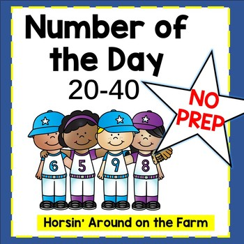 Number of the Day 20-40 (Baseball Theme)