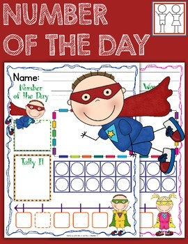 Number of the Day - Superhero Theme
