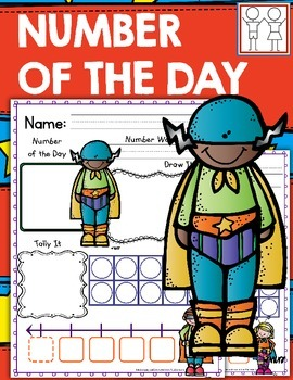 Number of the Day Morning Work - Superhero