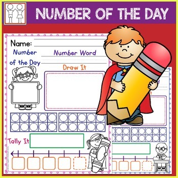 Number of the Day Superhero Theme