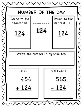 Number of the Day -- 3.NBT.1 & 3.NBT.2