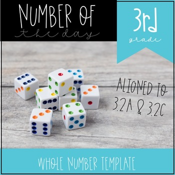 Number of the Day 3rd Grade Template 3.2A 3.2C