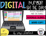Number of the Day - 4th grade- Google Slides - Distance Learning