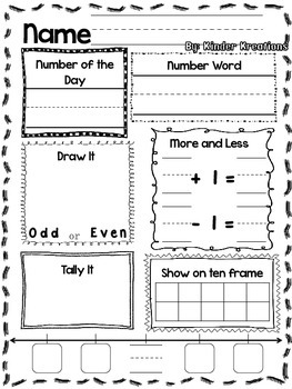 Number of the Day Activity (1-40) - Teaching Number Sense