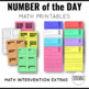 Number of the Day Printables 1-20