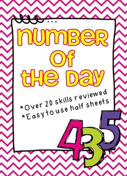 Number of the Day Activity Sheets