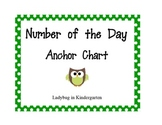 Number of the Day Anchor Chart