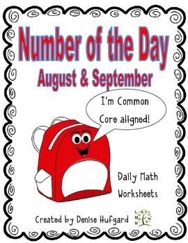 Number of the Day: Daily Math Worksheets {Back to School and September Edition}