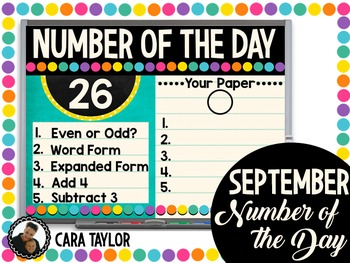 Number of the Day ~ Back to School