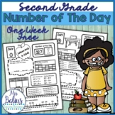Back to School Second Grade Math Number of the Day FREEBIE