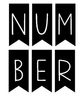Number of the Day Banner for Bulletin Display