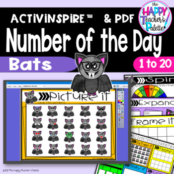 Number of the Day *Bats* Interactive Promethean Board Flipchart & Printables