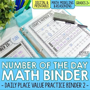 Number of the Day Binder (100-1,000) - Daily Place Value Practice