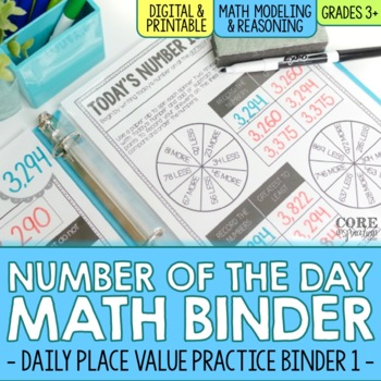 Number of the Day Binder - Third Grade Daily Math Practice