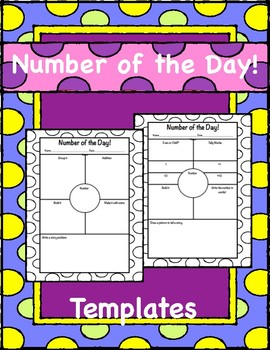 Number of the Day Blank Templates
