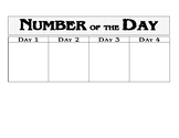 Number of the Day Board