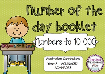 Number of the Day Booklet - Numbers to 10 000