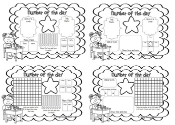 Number of the Day Booklet - Numbers to 100