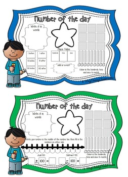 Number of the Day Booklet - Numbers to 1000