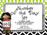 Number of the Day Bulletin Board Set (8 Different Headers Included)