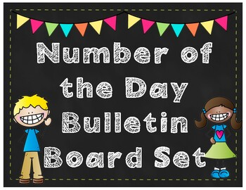 Number of the Day Bulletin Board Set - Chalkboard