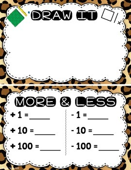 Number of the Day Bulletin Board Set:  Cheetah