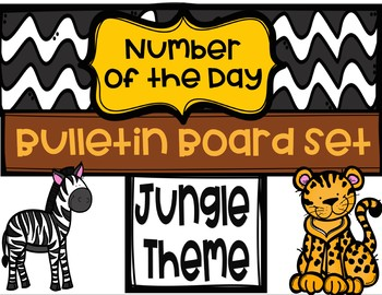 Number of the Day Bulletin Board Set - Jungle Theme